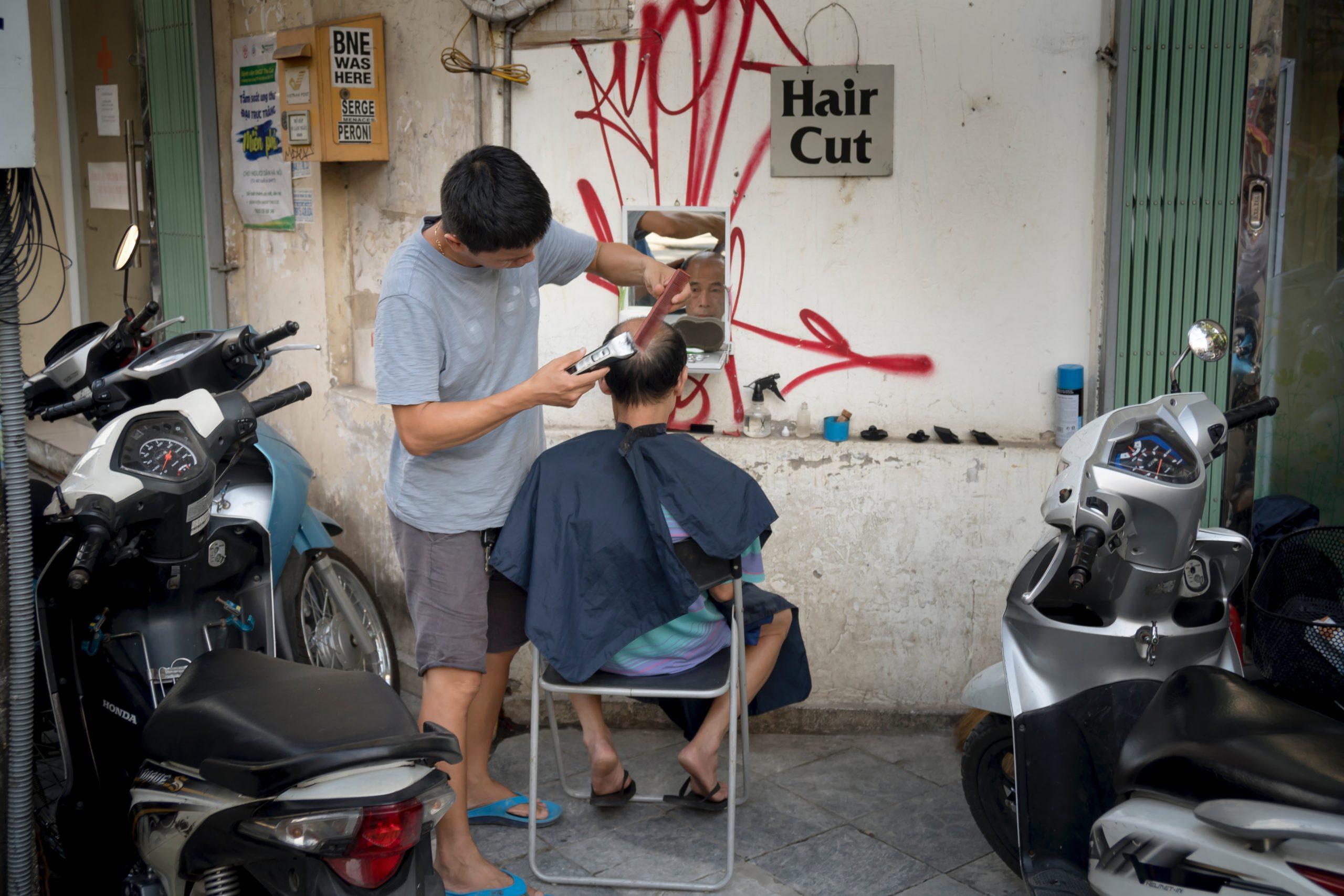 Haircut during lockdown