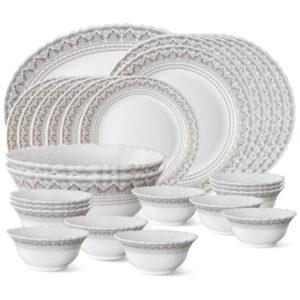 Larah by Borosil Classic Opalware Dinner Set