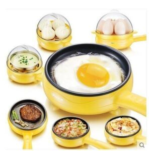 PETRICE 2-In-1 Multi-functional Electric Mini Egg Boiler