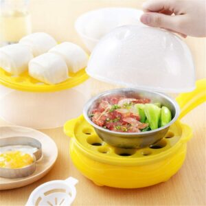RYLAN Multifunctional 2 in 1 Electric Egg Boiler